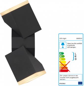SHADA LED Außen-Wandleuchte 13W 590lm 2700K, Farbe anthrazit, EEC: A-A++ (1000533)