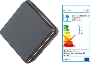 SHADA LED Außen-Wandleuchte 12,5W 550lm 2700K, Farbe anthrazit, EEC: A-A++ (1000546)