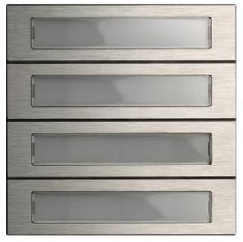 elektromaterial g nstig kaufen auf temo gira 5534920 system 106 ruftastenmodul 4. Black Bedroom Furniture Sets. Home Design Ideas
