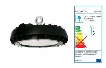 SHADA LED Highbay 100W 14500lm 4000K IP65, EEC: A-A++ (2400391)