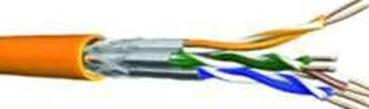 DRMC Datenkabel Netzwerkkabel Cat.7 900MHz orange UC900HS23 4x2xAWG23HFS/FTP CD7669340 - Meterware (60011604)