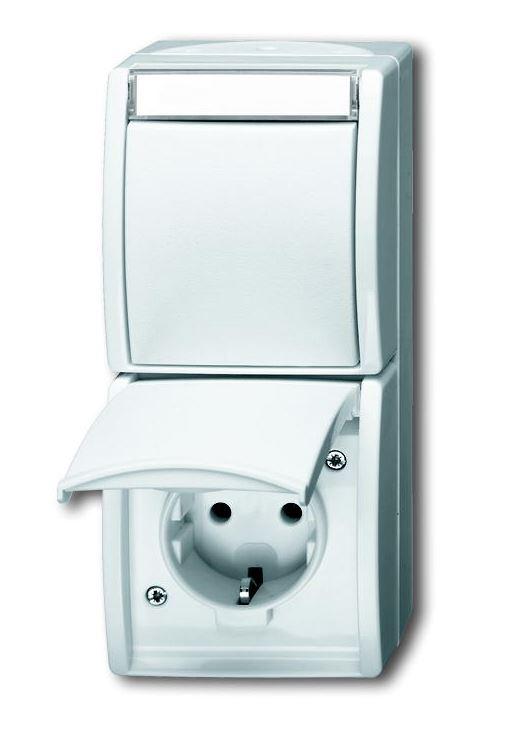 elektromaterial g nstig kaufen auf temo busch jaeger 2601 6 20ew 54 kombination. Black Bedroom Furniture Sets. Home Design Ideas