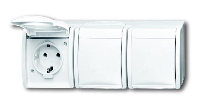 elektromaterial g nstig kaufen auf temo busch jaeger 2300 3ebw 54 steckdose 3 fach. Black Bedroom Furniture Sets. Home Design Ideas