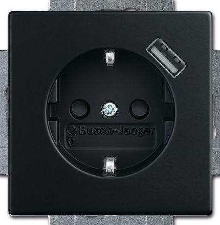 elektromaterial g nstig kaufen auf temo busch jaeger 20eucbusb 885 schuko usb. Black Bedroom Furniture Sets. Home Design Ideas