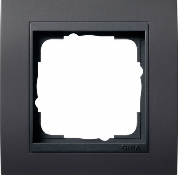 elektromaterial g nstig kaufen auf temo gira system 55 anthrazit rahmen event 1. Black Bedroom Furniture Sets. Home Design Ideas
