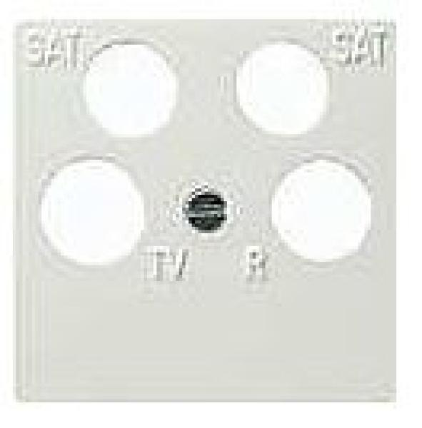 elektromaterial g nstig kaufen auf temo gira 025903 system 55 tv abdeckplatte 4. Black Bedroom Furniture Sets. Home Design Ideas