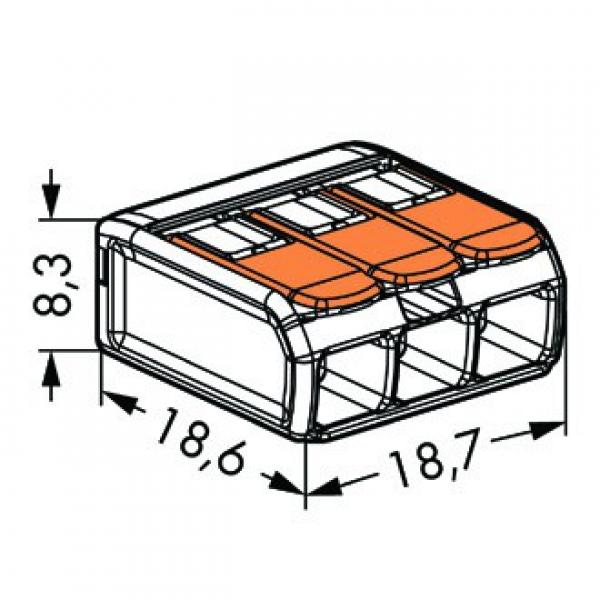 elektromaterial g nstig kaufen auf temo wago compact 221 413 verbindungsklemme mit. Black Bedroom Furniture Sets. Home Design Ideas