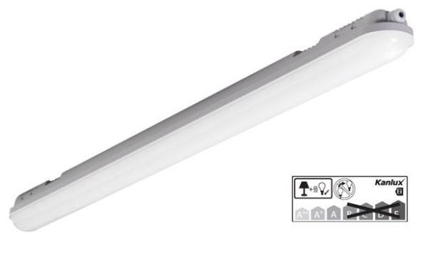 Kanlux LED-Feuchtraum-Wannenleuchte 50W, 5250lm, IP65, 150cm, MAH-LED N 50W-NW/PC, EEC: A-A++ (22605)