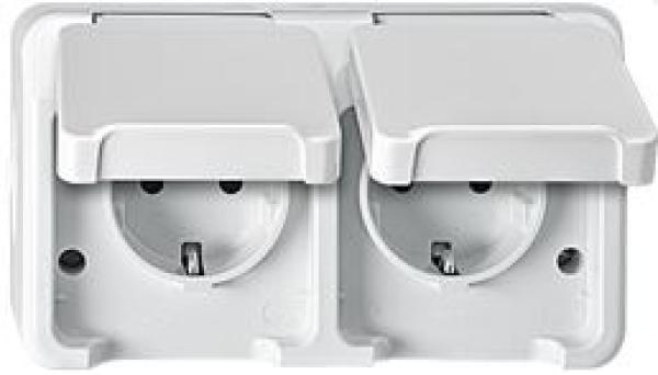 elektromaterial g nstig kaufen auf temo merten meg2320 8019 schuko doppel steckdose. Black Bedroom Furniture Sets. Home Design Ideas