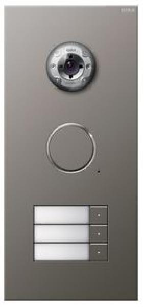 elektromaterial g nstig kaufen auf temo gira 255320 t rstation video 3 fach edelstahl. Black Bedroom Furniture Sets. Home Design Ideas
